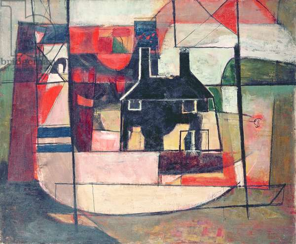 An Essex House (oil on canvas)