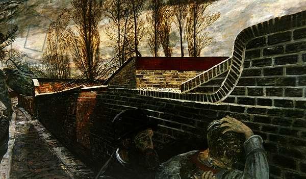 Pre-Raphaelite Tragedy, 1950 (oil on board)
