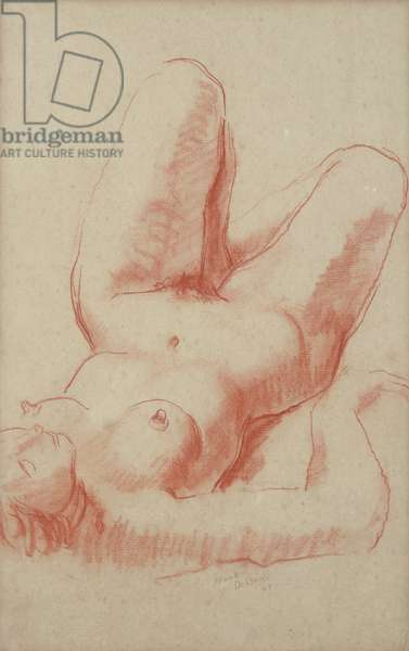 Study of a Female Nude, 1947 (sanguine chalk on paper)