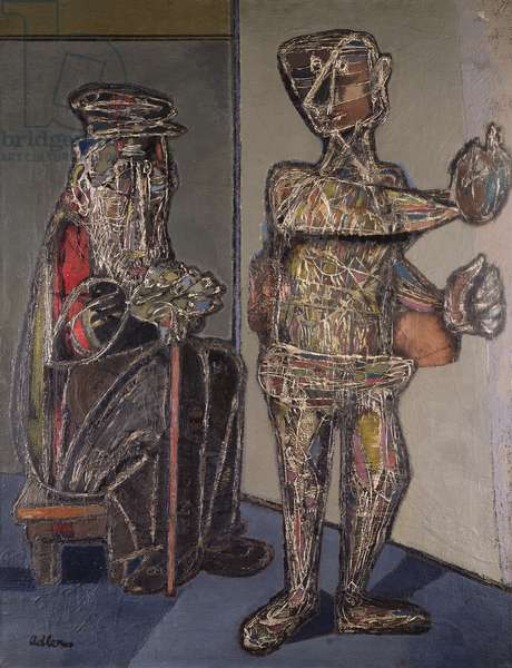 Two Figures, 1944 (oil on canvas)