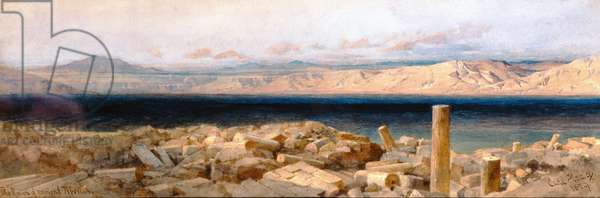 The Ruins of Ancient Tiberias, 1859 (w/c & pencil on paper)