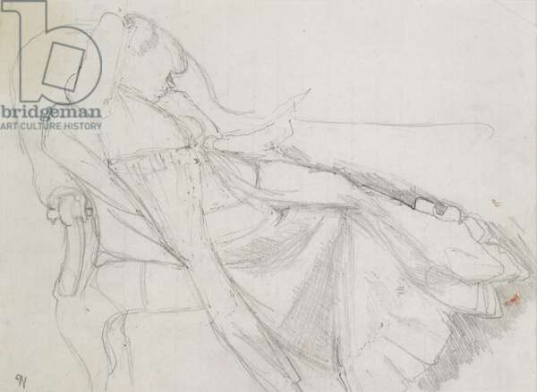 Study for 'Interior with Reclining Woman', 1944 (pencil on paper)