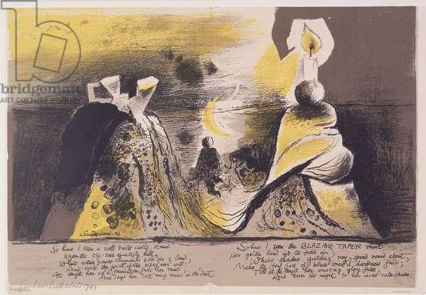 Illustration for 'Hyroglyphics of the Life of Man', 1943 (litho)