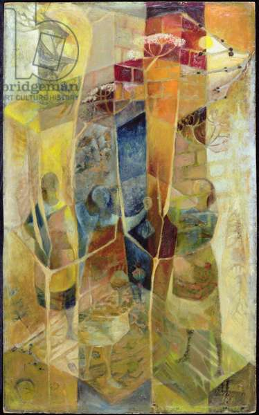 The Tower of the Singing Minds, 1956 (oil on board)