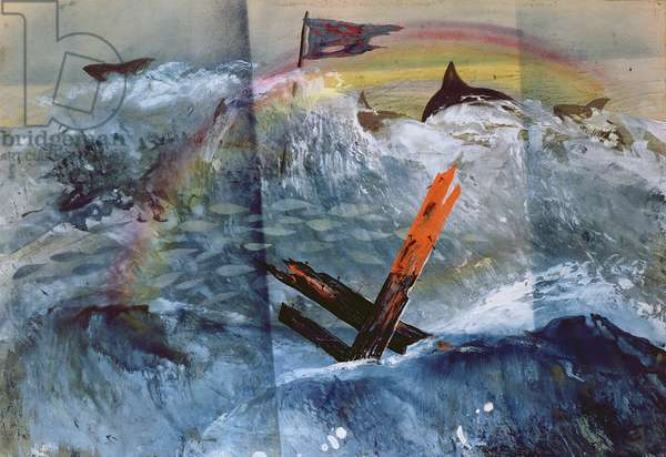 Second Wrecking, 1947 (w/c & bodycolour on paper)