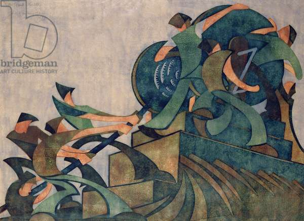 The Giant Cable, 1931 (linocut on paper)