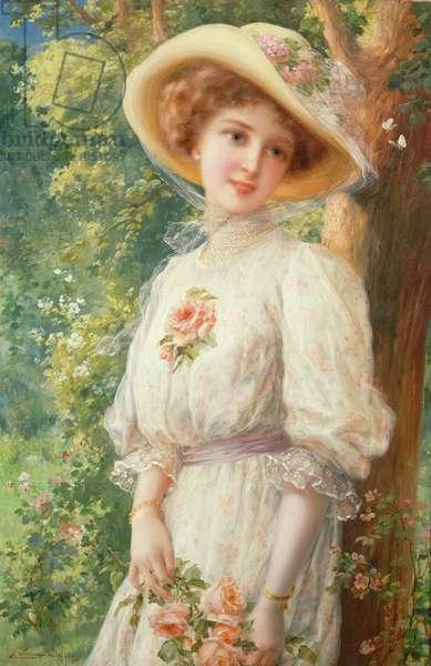 Mlle Printemps, 1910 (oil on canvas)