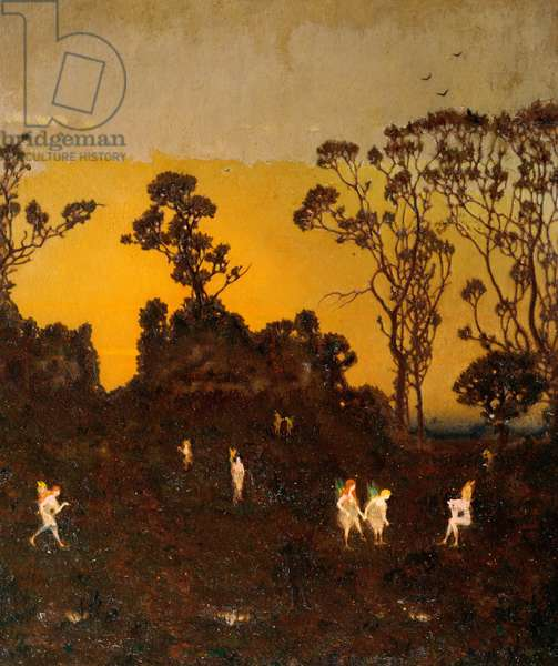 Hamadryads at the Dawning, c.1910 (oil on panel)
