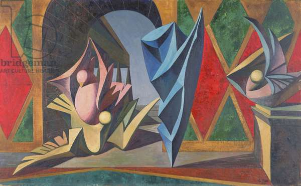 The Conception of Flight, 1954 (oil on canvas laid on board)