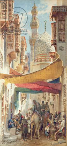A Street in Cairo, 1890 (w/c on paper)