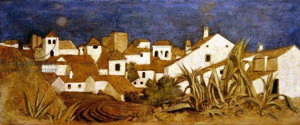 Marbella in the Sun (tempera on panel)
