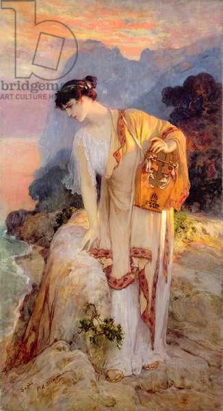 Sappho (oil on canvas) c. 1910