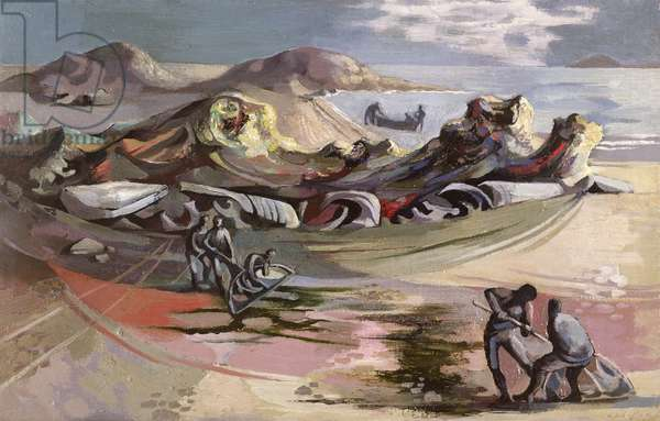Ischian Fishermen, 1947 (oil on canvas)