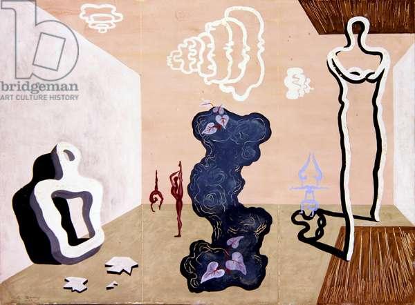 Surrealist Scene, 1933 (gouache on paper)