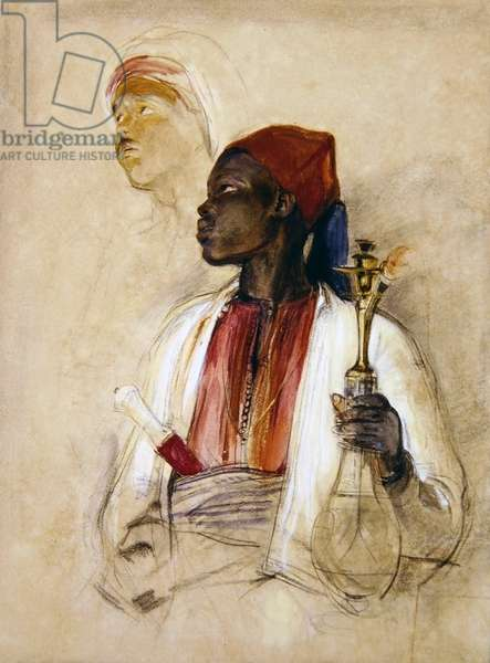 Study for the Pipe Bearer, c.1856 (w/c on paper)