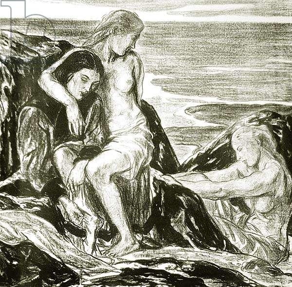 The Ebb Tide, 1917 (litho)