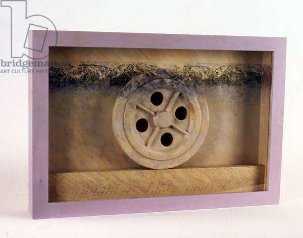 The Big Wheel, c.1980 (wood, screen print & paint)