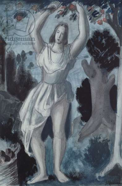 The Apple Gatherers, 1943 (w/c on paper)