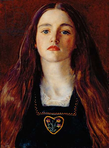 Portrait of a Girl, 1857 (oil on paper laid over panel)