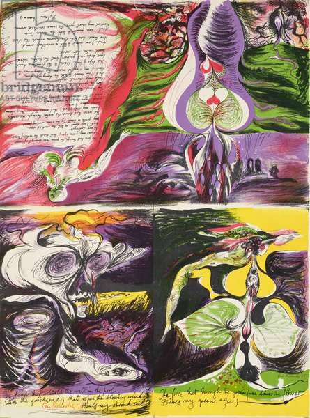The Hand that Whirls the Water, 1945 (colour litho) (see 452586 and 452587)