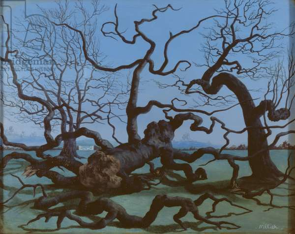 Trees in November, 1943 (oil on panel)