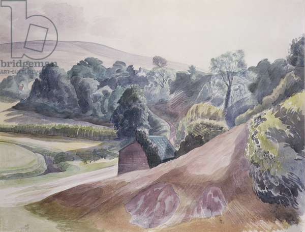 Llanmadoc, Gower (w/c on paper)