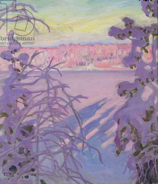 A Winter Landscape, 1917 (oil on canvas)