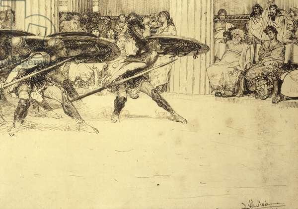 The Pyrrhic Dance, c.1886 (pen & ink on paper)