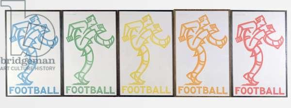 Football, 1933 (colour litho)