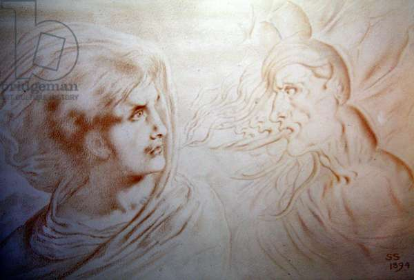 Future Thoughts, 1894 (chalk on paper)