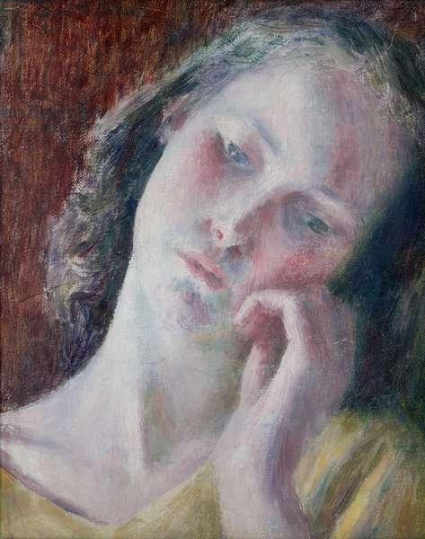 Girl's head, c.1942 (oil on canvas)