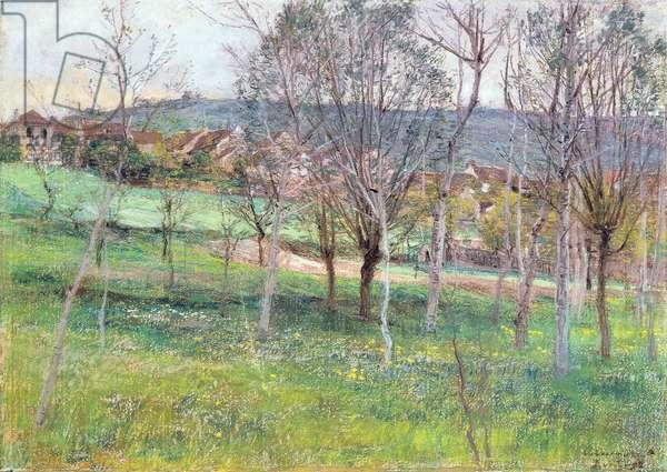 Landscape in Northern France, c.1892 (pastels)
