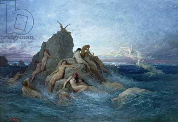 Les Oceanides (oil on canvas)