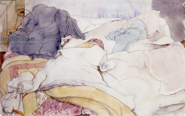 The Unmade Bed, 1933 (pencil & w/c on paper)