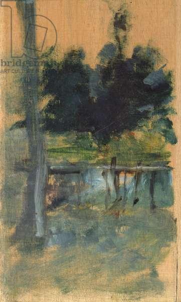 Landscape sketch, 1885 (oil on panel)