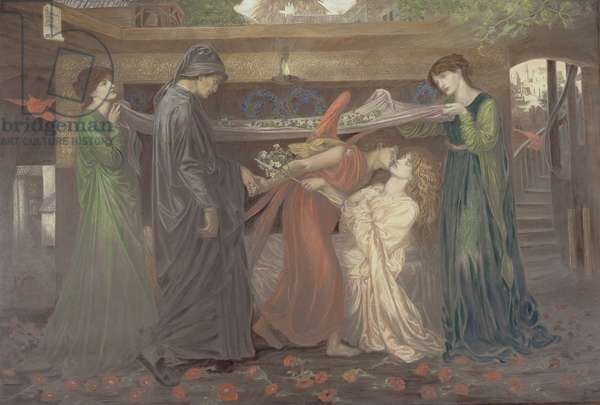 Dante's Dream: the Death of Beatrice, c.1890 (chalk over a photographically printed base)