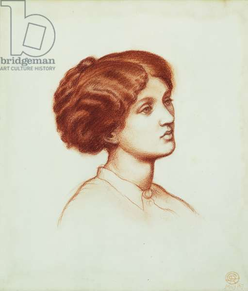 Mrs Frederick Leyland, 1867 (red chalk on paper)