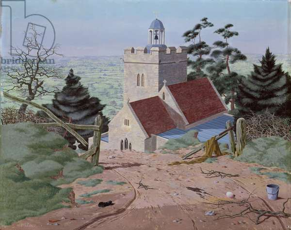 The Vale from Cucklinton, 1945 (tempera on canvas)