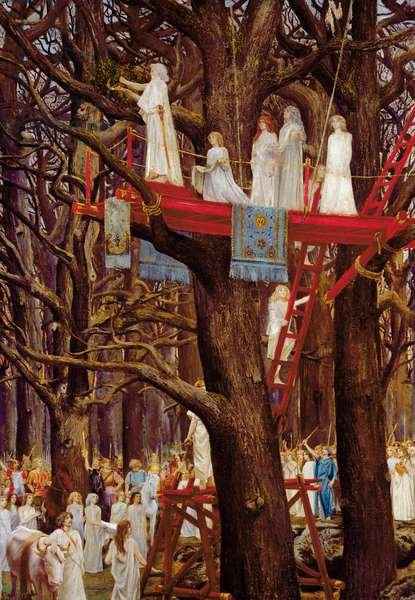 Druids Cutting the Mistletoe on the Sixth Day of the Moon (oil on canvas)