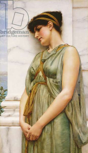 Pompeian Girl (oil on canvas)