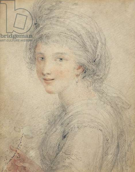 Portrait of Angelica Kauffman (coloured chalks on paper)