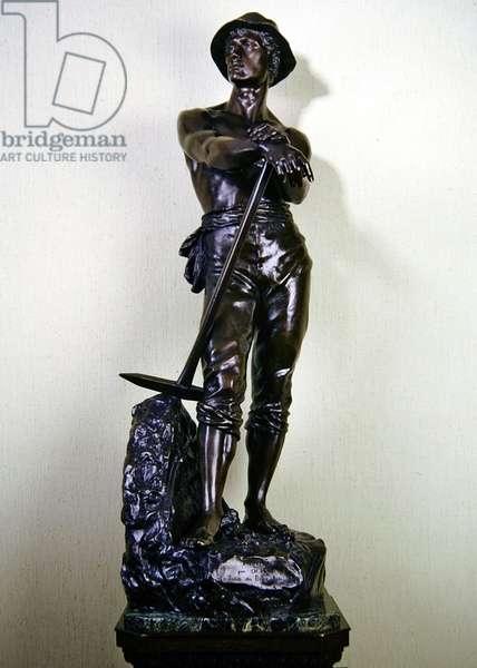 Le Mineur (bronze on a marble base)