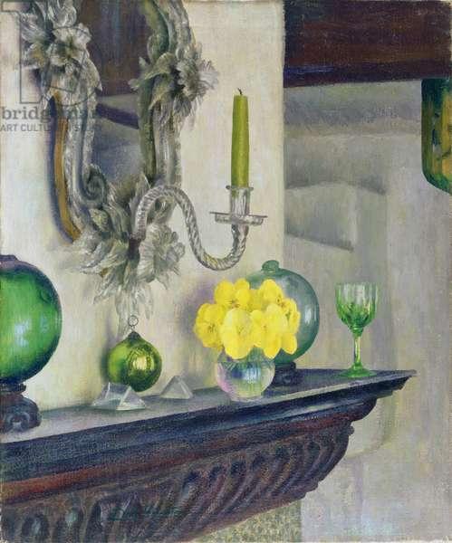 Venetian mirror (oil on canvas)