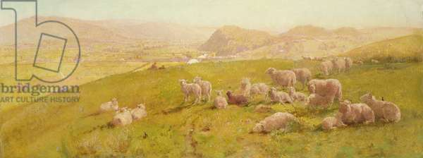 The Vale of Towy, 1873 (oil on panel)
