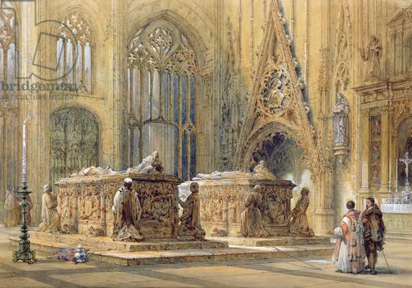 Cathedral Interior, 1867 (w/c on paper)