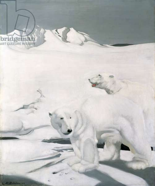 Polar Bears, 1924 (oil on canvas)