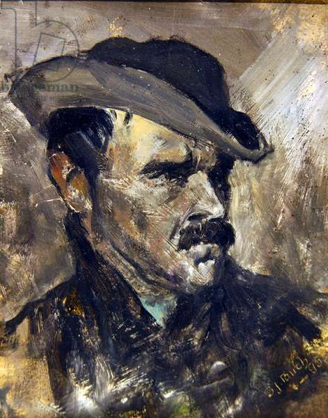 Head Study of a Young Man, 1895 (oil on paper)