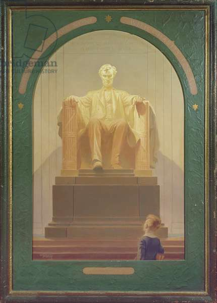 Abraham Lincoln Monument, 1950 (oil on canvas)