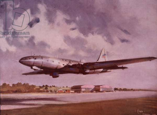 Maiden flight of Bristol Brabazon, 1949 (colour litho)