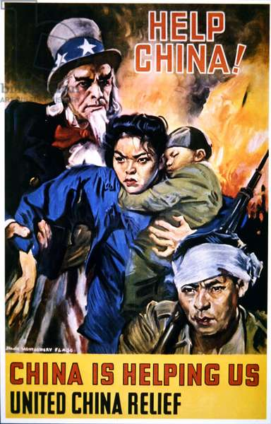 'Help China', World War II American poster, c.1944 (colour litho)